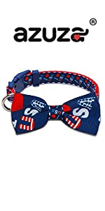 4th of July dog collar