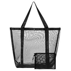 large mesh handbag