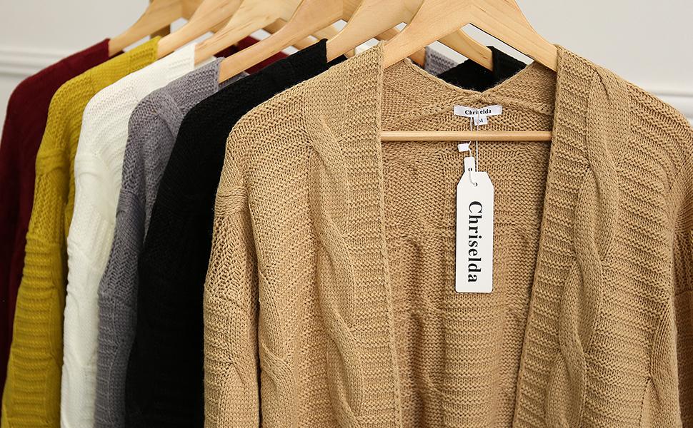 Chriselda Suéter de Punto para Mujer cárdigan