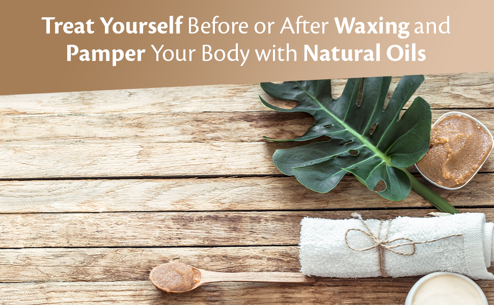 treat yourself myself waxing pamper natural oils