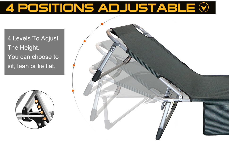 4 Positions Adjustable