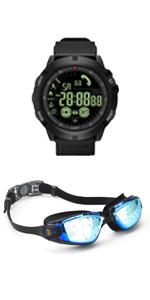 Black Swim Goggle amp; Watch