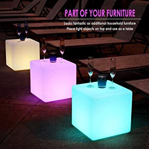 LED SIDE TABLE WITH DRINKS