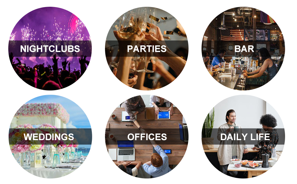 NIGHTCLUBS PARTIES BAR WEDDINGS OFFICES DAILY LIFE