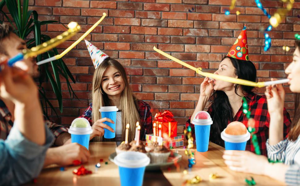 TIK TOK Homemade Milk Shake Ice Cream Slushie Maker Cup for Kids amp; Family