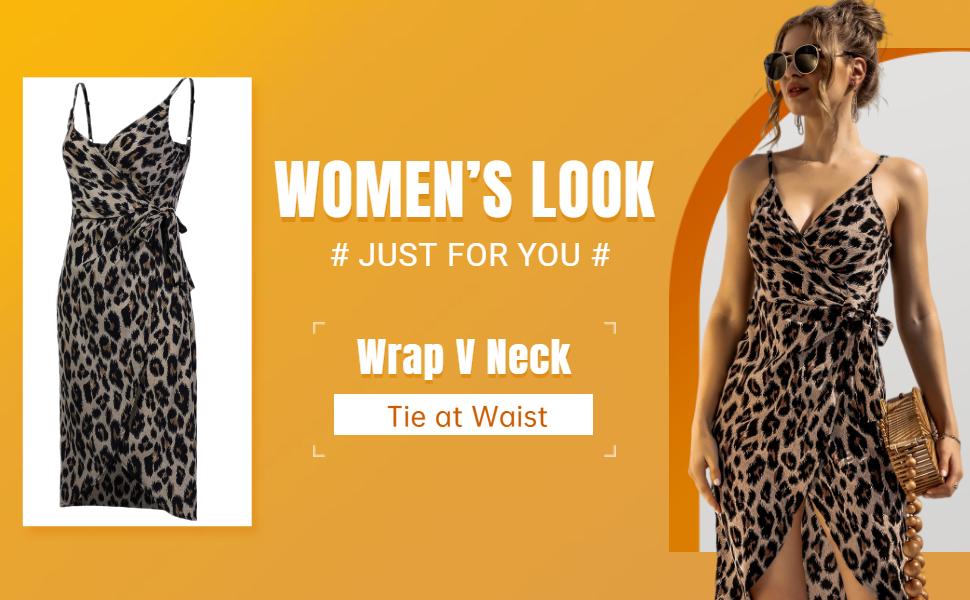 v neck mini dress,summer mini dress sleeveless,leopard cami dress tie wasit,classic leopard dresses