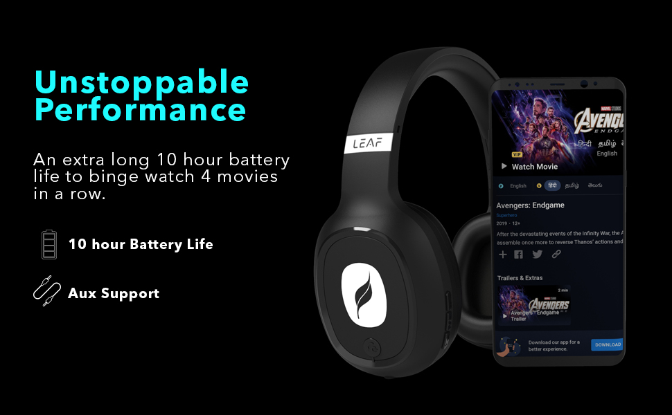 unstoppable battery performance Bluetooth Headphones