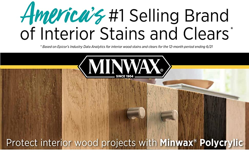 America's #1 Selling Brand of Interior Stains and Clears Protect interior wood projects