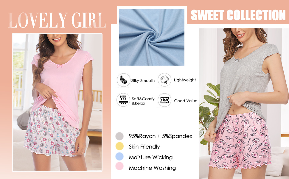 lovely short pajama set