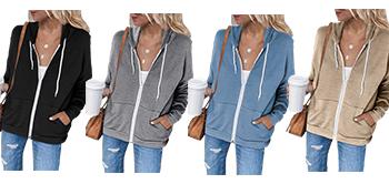 black zip up hoodie women