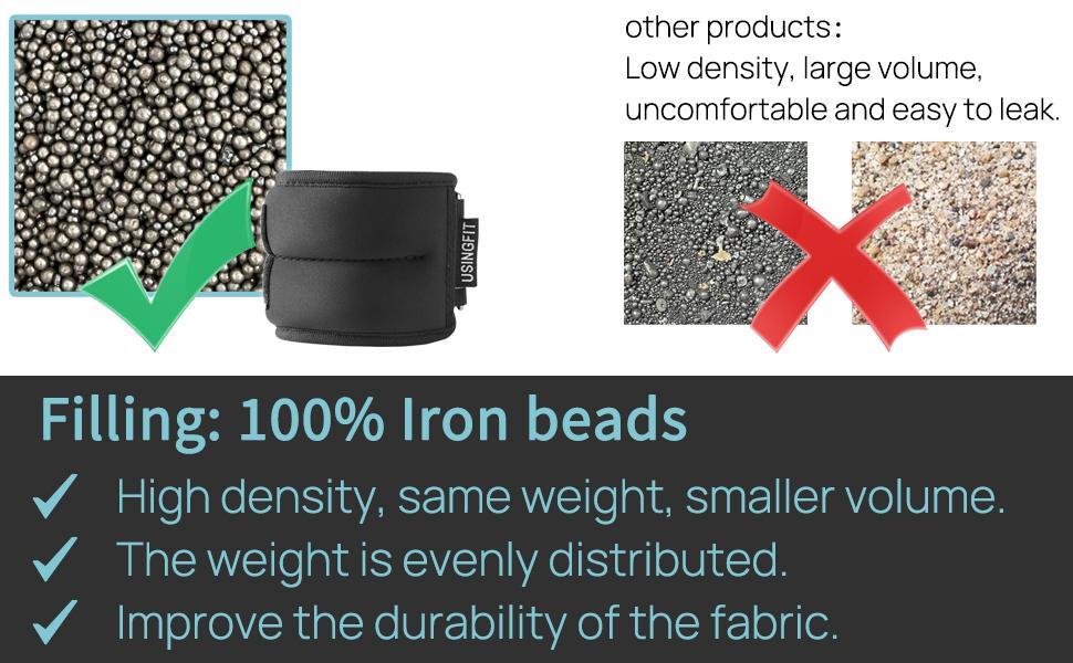 Filling: 100% Iron beads