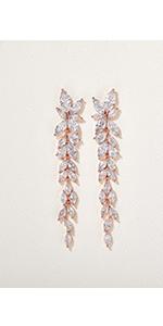 Chandelier Bridal Dangle Earrings