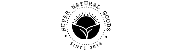 Super Natural Goods Brand Logo - Since 2014 - All Natural Products