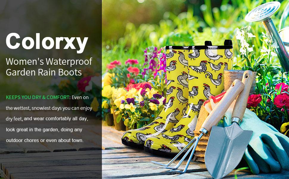 women garden rain boots