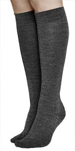 calcetines altos hasta rodilla largos lana merino calientes calidos invierno invernale senora mujer