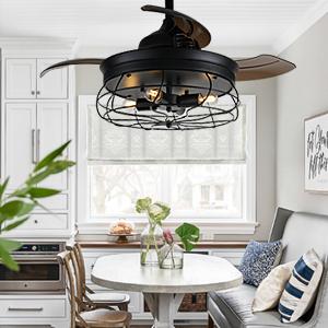 farmhouse ceiling fan indoor