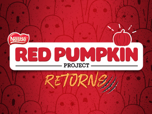 red pumpkin project; halloween; chocolate; candy;