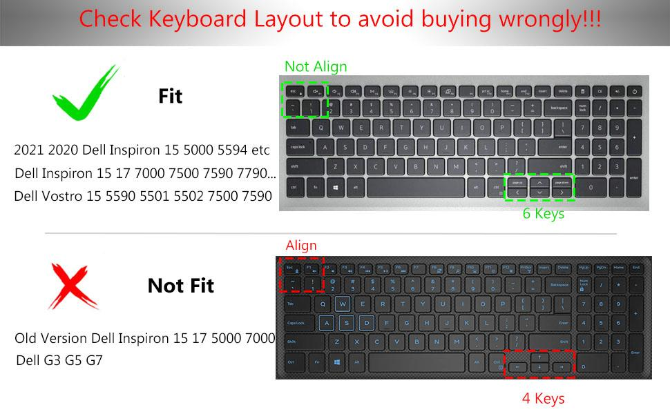 Dell Inspiron 15 5000 7000 keyboard cover