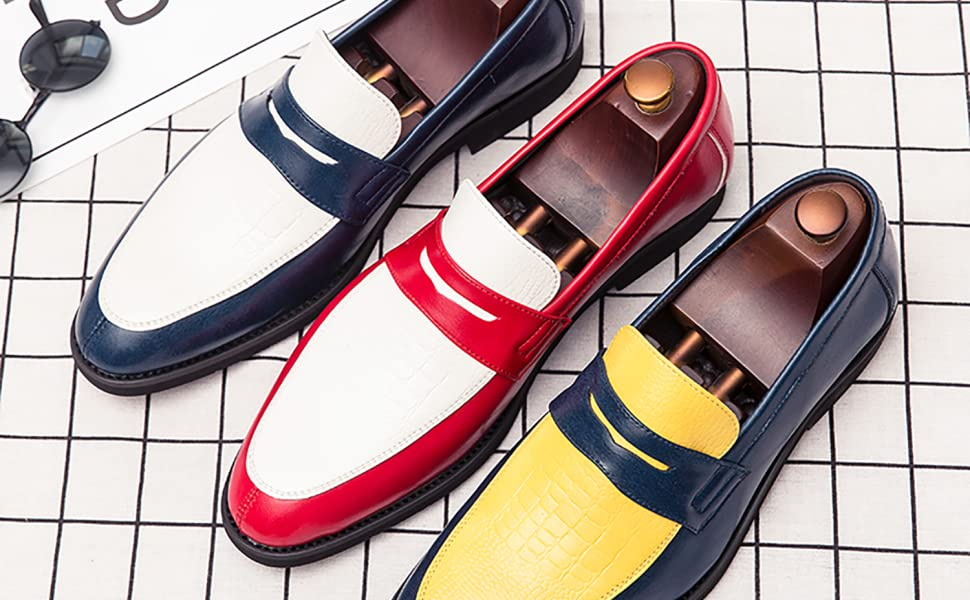 two tone penny loafer