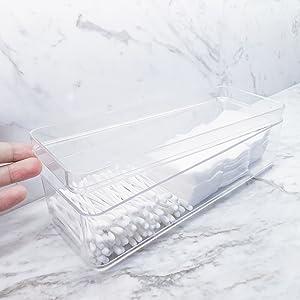 bathroom transparent acrylic organizer with cover