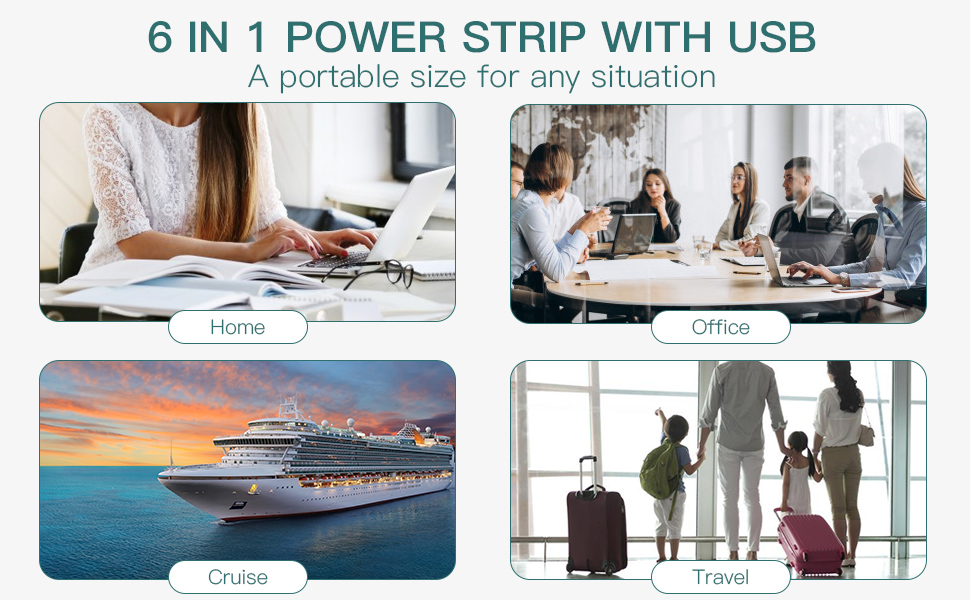 Portable size for home/office/cruise/travel