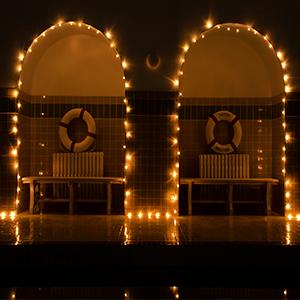 Ollny solar garden lights waterproof string fairy light outdoor indoor gazebo patio decoration