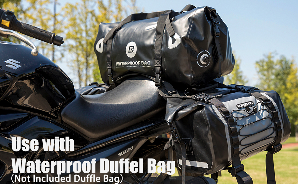 Use in combination with waterproof duffel bag