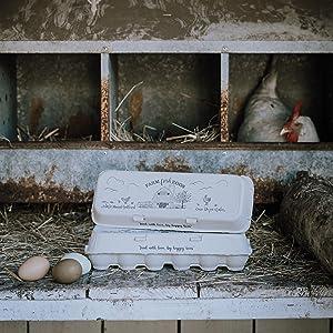 barn flat top rustic vintage design egg cartons