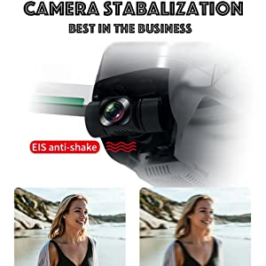 EIS Anti-Shake Camera with 3-axis Gimbal Stabalizer