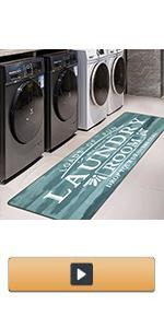 farmhouse laundry room rug runner non sip kitchen floor mat