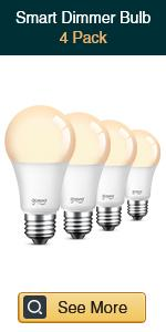Gosund smart dimmable bulbs 4 pack