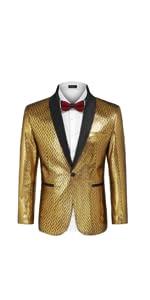 Men's Fashion Suit Jacket Blazer One Button