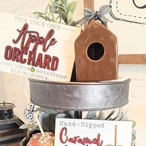 Mini Brown Birdhouse