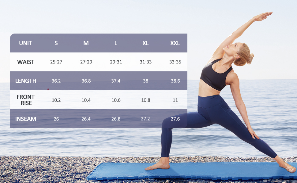 Leggings Damen Hohe Taille Sporthose Fitness Leggings Laufhose mit Taschen Tights Jogginghose