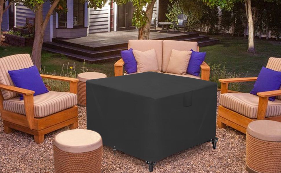 patio square firepit cover