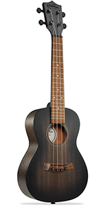 """brown Ashthorpe ukulele, 23"""" concert size, mahogany body and neck, walnut fret and bridge, 4 string"""