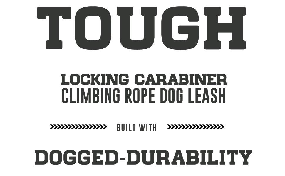 Locking Carabiner Tough Text