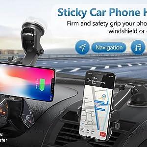 long neck car mobile holder