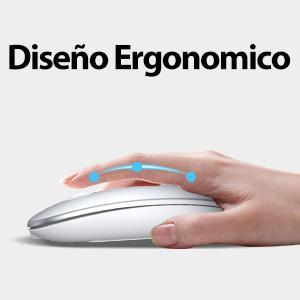 ratón inalámbrico de diseño ergonómico ratón ergonómico para macbook mini ratón