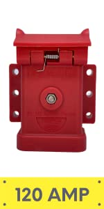 TVN201426-120 Red Trailer Vision anderson plug cover quick connect system winch