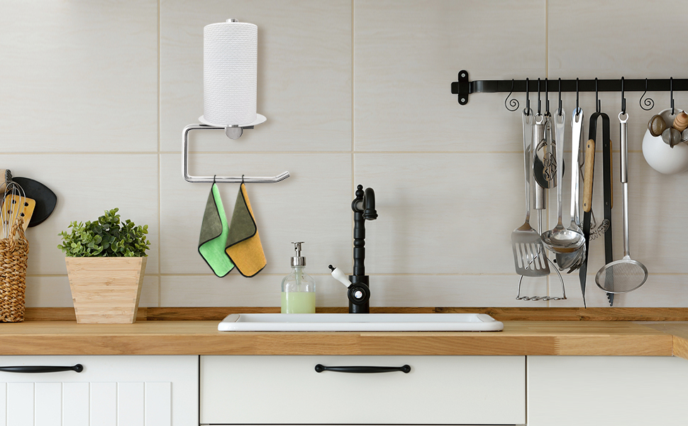 Toilet Paper Holder and Towel Rack for kitchen