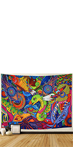 snake tapestry