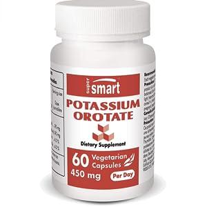 Supersmart POTASSIUM OROTATE 450 mg Per Day 60 Vegetarian Capsules