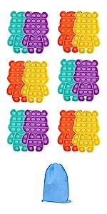 SoulLife 12PCS Push Bubble Fidget Toy