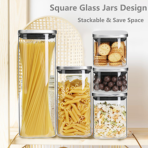 Food Storage Jars Containers