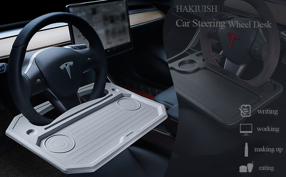 car steering wheel desk