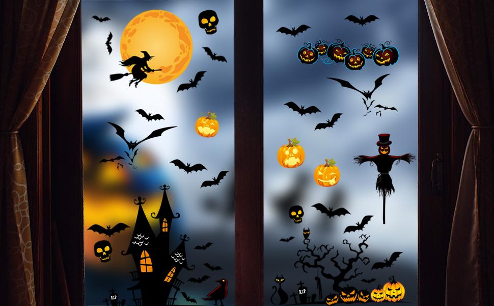 Halloween Window Clings