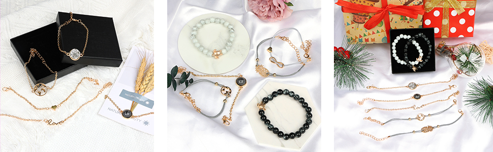 Layered bracelet set