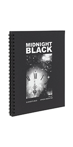 midnight black paper pad 9x12amp;amp;amp;#34; 50 pages