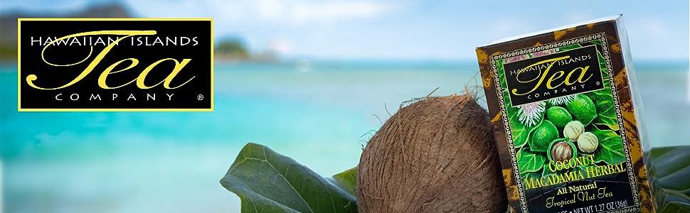 Hawaiian Island Tea - Logo w Coconut